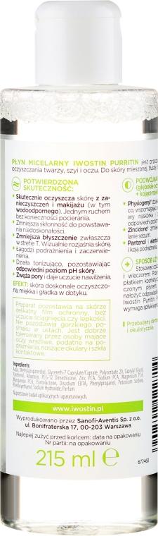 Mizellenwasser für fettige und zu Akne neigende Haut - Iwostin Purritin Face Cleansing Micellar Water — Bild N2
