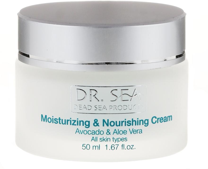 Feuchtigkeitsspendende und pflegende Gesichtscreme mit Avocado und Aloe Vera - Dr. Sea Moisturizing and Nourishing Cream — Bild N1