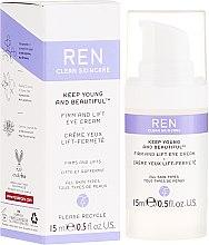 Düfte, Parfümerie und Kosmetik Revitalisierende Anti-Aging-Creme für die Augenpartie - Ren Keep Young and Beautiful Firm and Lift Eye Cream