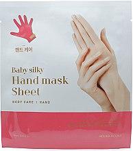 Düfte, Parfümerie und Kosmetik Feuchtigkeitsspendende Tuchmaske für Hände mit Sheabutter, Avocadoöl und Honig - Holika Holika Baby Silky Hand Mask Sheet