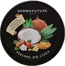 Düfte, Parfümerie und Kosmetik Zucker-Körperpeeling mit Scheabutter, Kokosnussöl und Vitamin E - DermoFuture Sugar Body Scrub
