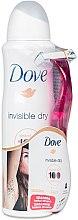 Düfte, Parfümerie und Kosmetik Set - Dove Invisible Dry (deo/150ml + razor)