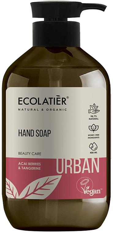 Flüssige Handseife mit Acai-Beeren und Mandarine - Ecolatier Urban Liquid Soap