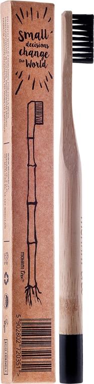 Bambuszahnbürste mittel schwarz - Mohani Toothbrush