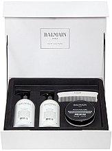 Düfte, Parfümerie und Kosmetik Haarpflegeset - Balmain Paris Hair Couture Silver Revitalizing Care Set (Haarmaske 200ml + Conditioner 300ml + Shampoo 300ml + Haarkamm)