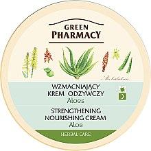 Düfte, Parfümerie und Kosmetik Stärkende und pflegende Gesichtscreme mit Aloe - Green Pharmacy Strengthening Nourishing Cream