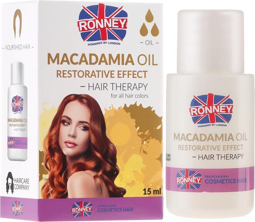 Stärkende Haarkur mit Macadamiaöl - Ronney Macadamia Oil Restorative Effect Hair Therapy