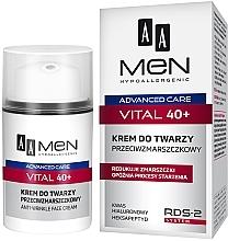 Düfte, Parfümerie und Kosmetik Anti-Aging Gesichtscreme - AA Men Advanced Care Vital 40+ Face Cream Anti-Wrinkle