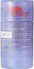 Düfte, Parfümerie und Kosmetik Sonnenschützender Stick für Körper und Gesicht SPF 30 - Hello Sunday The Take-Out One Invisible Sun Stick SPF 30
