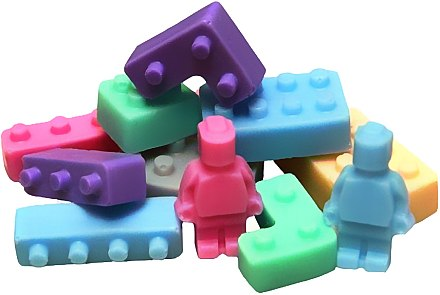 Handgemachte Naturseife Lego Bausteine - LaQ Happy Soaps Natural Soap
