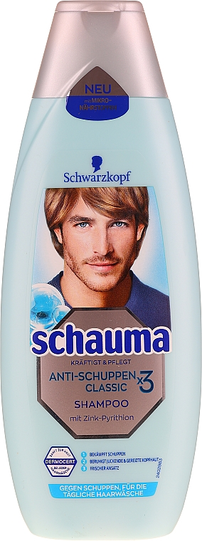 Anti-Schuppen Shampoo für Männer - Schwarzkopf Schauma Anti-Dandruff Classic X3 Shampoo Men — Bild N1