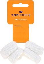 Düfte, Parfümerie und Kosmetik Haargummis weiß 4 St. - Top Choice