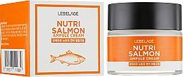 Düfte, Parfümerie und Kosmetik Nährende Gesichtscreme mit Lachsöl - Lebelage Ampule Cream Nutri Salmon