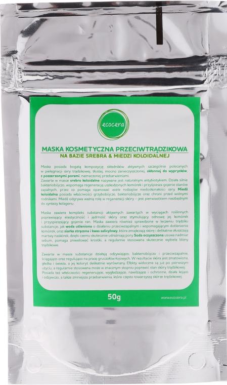 Anti-Akne Gesichtsmaske - Ecocera Face Anti-Acne Mask