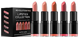 Düfte, Parfümerie und Kosmetik Make-up Set 5 St. - Revolution Pro 5 Lipstick Collection Matte Nude