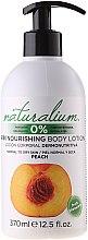 Düfte, Parfümerie und Kosmetik Nährende Körperlotion mit Pfirsich - Naturalium Body Lotion Peach