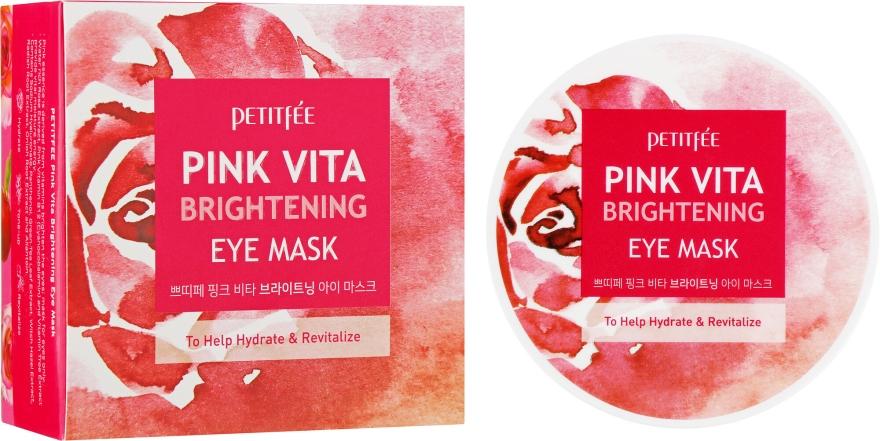 Aufhellende und feuchtigkeitsspendende Augenpatches - Petitfee&Koelf Pink Vita Brightening Eye Mask