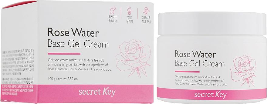 Pflegende Gel-Creme für das Gesicht auf Rosenwasserbasis - Secret Key Rose Water Base Gel Cream