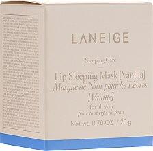 Düfte, Parfümerie und Kosmetik Intensiv regenerierende Lippenmaske für die Nacht mit Vanille - Laneige Sleeping Care Lip Sleeping Mask Vanilla