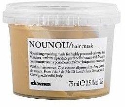 Pflegende regenerierende und schützende Maske mit Tomatenextrakt für brüchiges, trockenes und behandeltes Haar - Davines Nounou Nourishing Reparing Mask — Bild N2