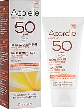 Düfte, Parfümerie und Kosmetik Sonnenschutzcreme für das Gesicht mit Pudereffekt - Acorelle Sunscreen High Protection SPF50