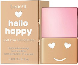 Düfte, Parfümerie und Kosmetik Benefit Hello Happy Soft Blur Foundation SPF 15 - Leichte Foundation (Mini)