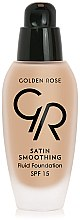 Düfte, Parfümerie und Kosmetik Foundation - Golden Rose Satin Smoothing Fluid Foundation SPF15