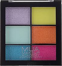 Düfte, Parfümerie und Kosmetik Lidschattenpalette - MUA Makeup Academy Professional 6 Shade Palette