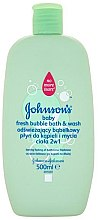 Düfte, Parfümerie und Kosmetik Erfrischender Duschgel-Schaum für Babys - Johnson's Baby Fresh Bubble Bath & Wash