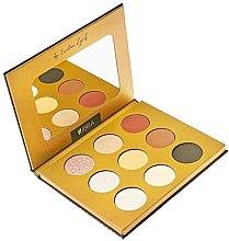Düfte, Parfümerie und Kosmetik Lidschattenpalette mit 9 Farben - Ibra Eyeshadow Palette By Ewelina Zych