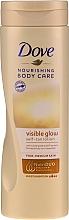 Düfte, Parfümerie und Kosmetik Selbstbräunungslotion für den Körper - Dove Visible Glow Gradual Self-Tan Lotion Fair-Medium Skin