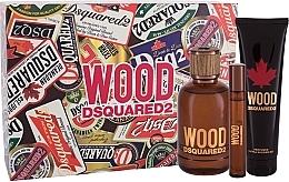 Düfte, Parfümerie und Kosmetik Dsquared2 Wood Pour Homme - Duftset (Eau de Toilette 100ml + Eau de Toilette 10ml + Duschgel 150ml)