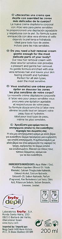 Enthaarungscreme mit Aloe Vera - Byly Depil Depilatory Cream With Aloe Vera — Bild N3