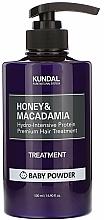 Düfte, Parfümerie und Kosmetik Intensiv feuchtigkeitsspendende und nährende Haarspülung mit Protein für behandeltes und strapaziertes Haar - Kundal Honey & Macadamia Treatment Baby Powder