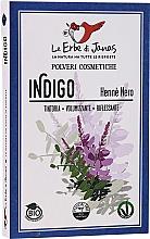 Düfte, Parfümerie und Kosmetik Indigo-Pulver für intensive schwarze Haarfarbe - Le Erbe di Janas Indigo (Black Henna)