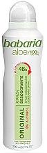 Düfte, Parfümerie und Kosmetik Deospray Antitranspirant - Babaria Aloe Vera Original Alcohol-Free Deodorant Spray