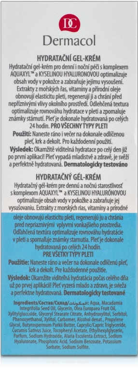 Feuchtigkeitsspendende Gel-Creme für das Gesicht - Dermacol Aqua Beauty — Bild N3