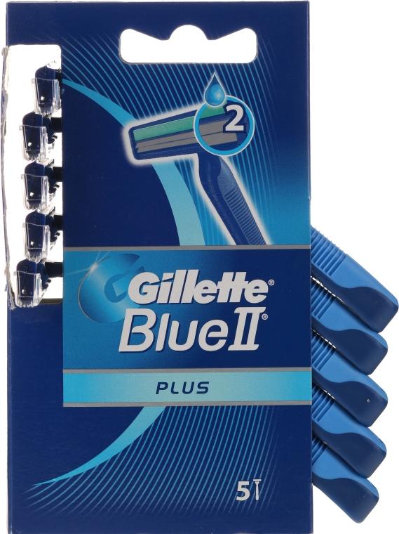 Einwegrasierer 5 St. - Gillette Blue II Plus Sensitive