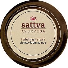 Düfte, Parfümerie und Kosmetik Nachtcreme mit Heilkräutern - Sattva Ayurveda Herbal Night Cream