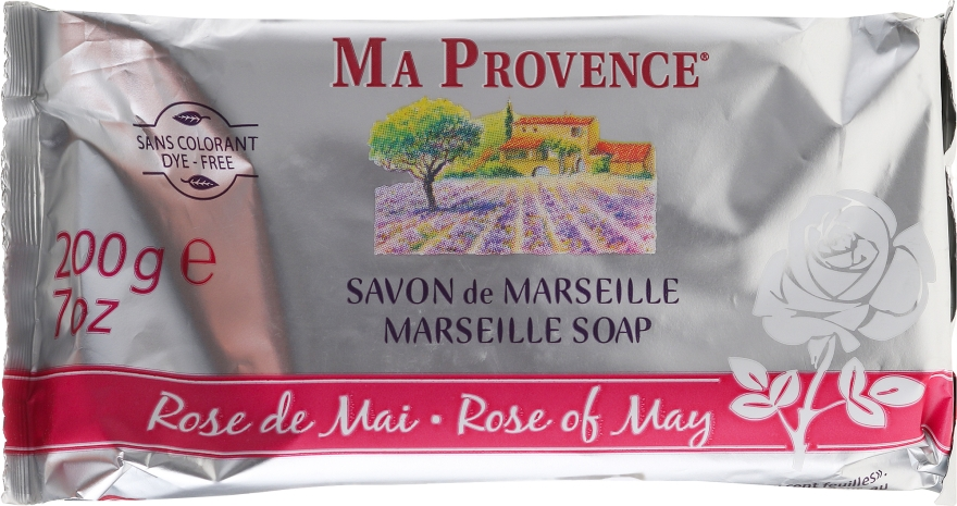 Seife Mairose aus Marseille - Ma Provence Marseille Soap Rose of May