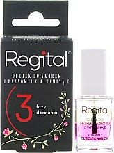 Düfte, Parfümerie und Kosmetik 3-Phasiges Nagelhaut- und Nagelöl mit Vitamin E - Regital Three-phase Cuticle And Nail Oil