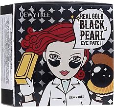 Düfte, Parfümerie und Kosmetik Hydrogel-Augenpatches mit Gold und schwarzem Perlenextrakt - Dewytree Real Gold Black Pearls Eye Patch