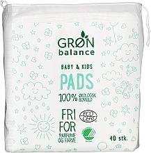 Düfte, Parfümerie und Kosmetik Reinigungspads aus 100% Bio-Baumwolle für Babys und Kinder 40 St. - Gron Balance Baby & Kids Pads