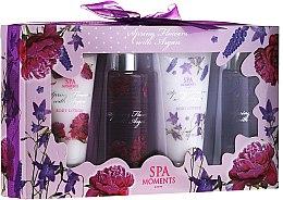 Düfte, Parfümerie und Kosmetik Körperpflegeset - Spa Moments Wild Rose & Lavender (Duschgel 2x100ml+Körperlotion 2x60ml)