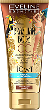 Düfte, Parfümerie und Kosmetik 10in1 Wasserfeste CC Körpercreme mit Bräunungseffekt - Eveline Cosmetics Brazilian Body Waterproof Multi Functional CC Cream