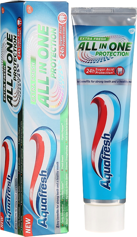 Zahnpasta All In One Protection Extra Fresh - Aquafresh All In One Protection Extra Fresh