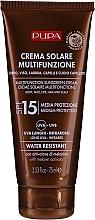 Düfte, Parfümerie und Kosmetik Feuchtigkeitsspendende Sonnenschutzcreme für Körper, Gesicht, Haar und Kopfhaut SPF 15 - Pupa Multifunction Sunscreen Cream