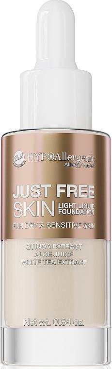 Leichte flüssige Foundation für trockene und empfindliche Haut - Bell Just Free Skin Light Liquid Foundation