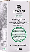 Düfte, Parfümerie und Kosmetik Gesichtsserum gegen Unvollkommenheiten mit 10% Niacinamid, 5% Präbiotika und 2% Peptidkomplex - BasicLab Esteticus Face Serum