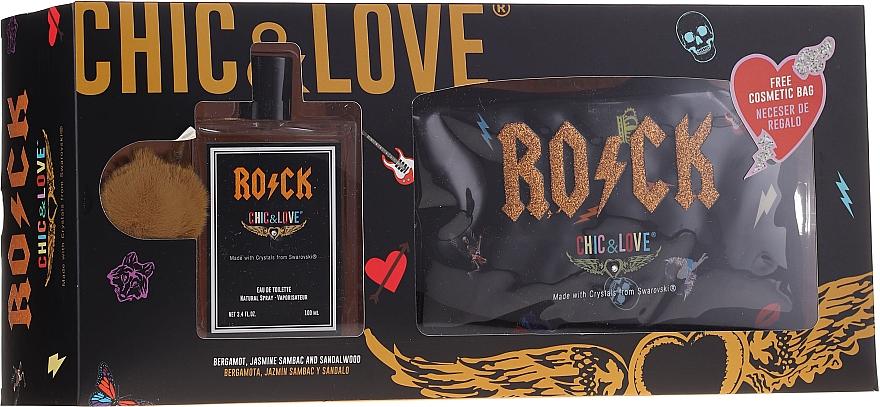 Chic&Love Rock - Duftset (Eau de Toilette 100ml + Kosmetiktasche)